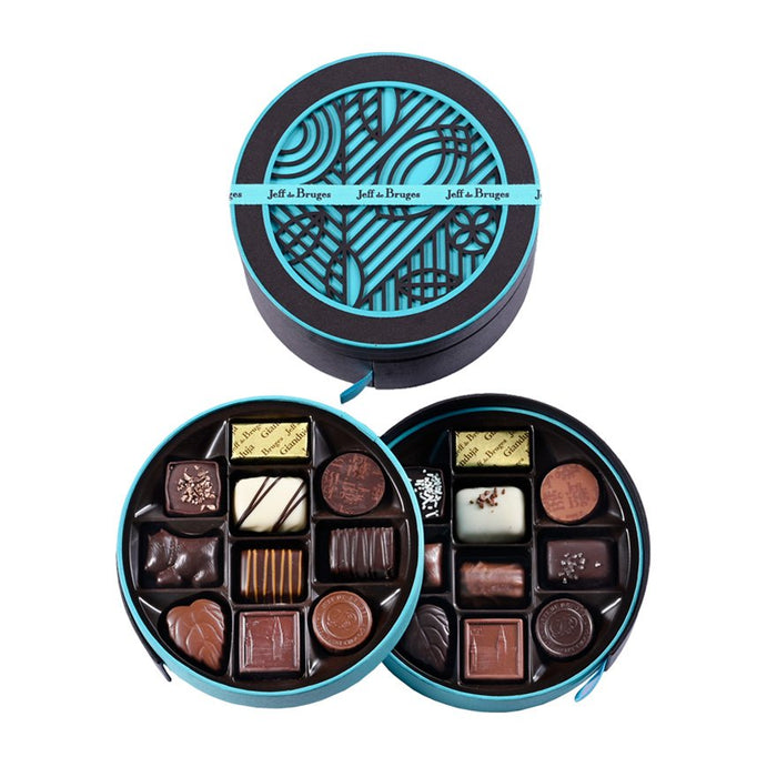 ROUND BOX 250 G ASSORTED CHOCOLATES