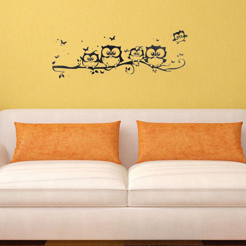 Cute Owls Wall Stickers-Cartoon Owl Decor-Decoration by Decorchy