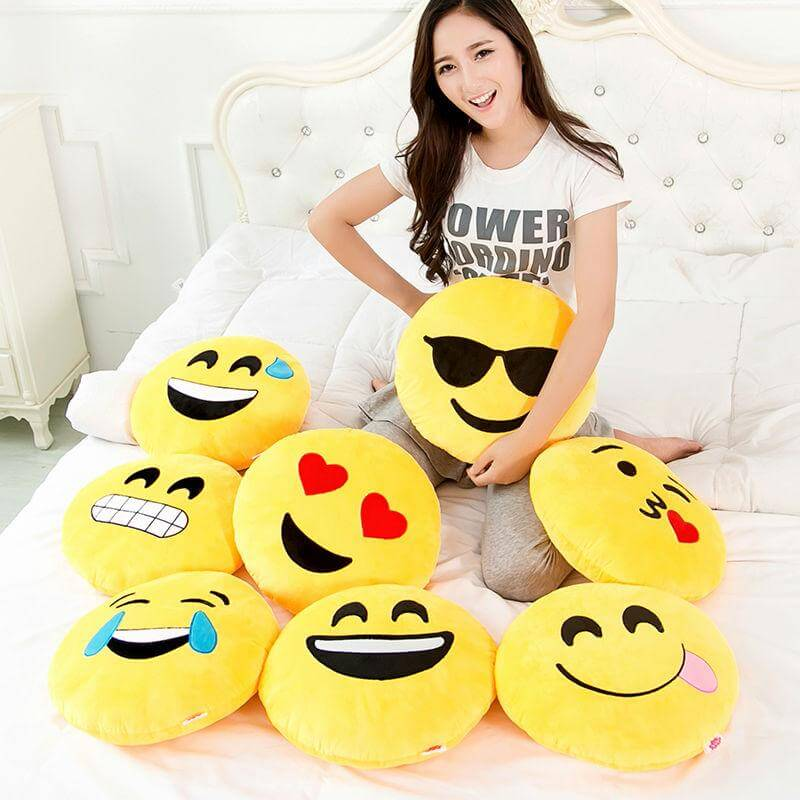 Emoji Smiley Emoticon Pillow 30cm 11 81in Home Decoration By Decorchy