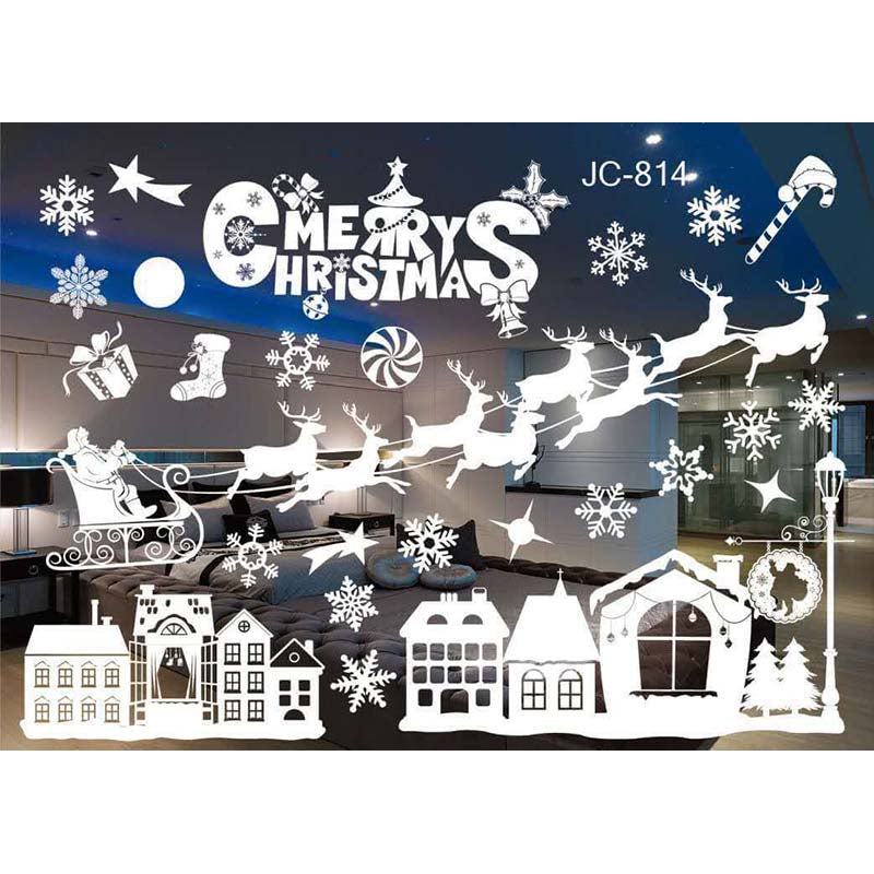 white christmas window stickers by decorchy - Christmas Window Stickers