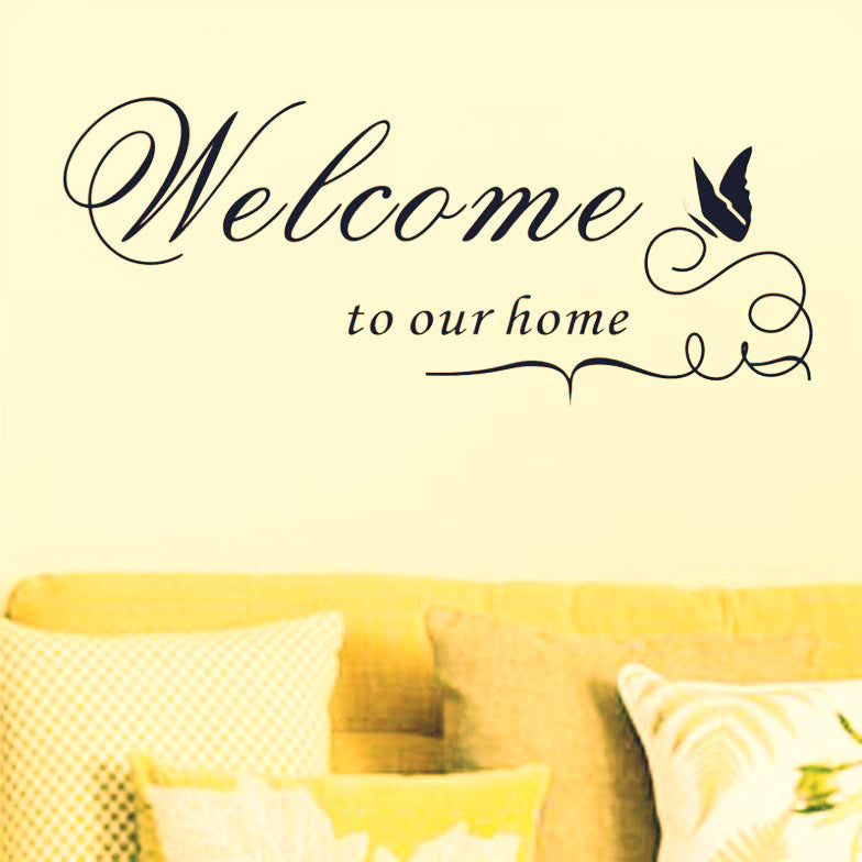 Inspirational Wall Quote Stickers&Decals-Welcome-Buy decor byDecorchy