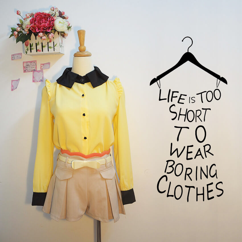 life is too short hanger wall sticker home decorationdecorchy