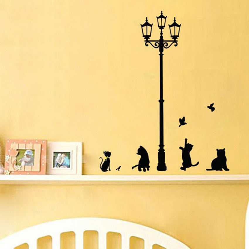 Cute Cat Wall Stickers&Decals Decor-Wall Art Decoration by Decorchy