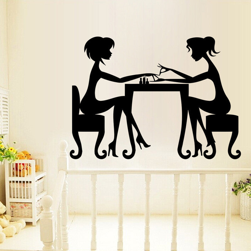 Beauty Salon Wall Decal Decor Girl Nail Sticker Decoration By Decorchy