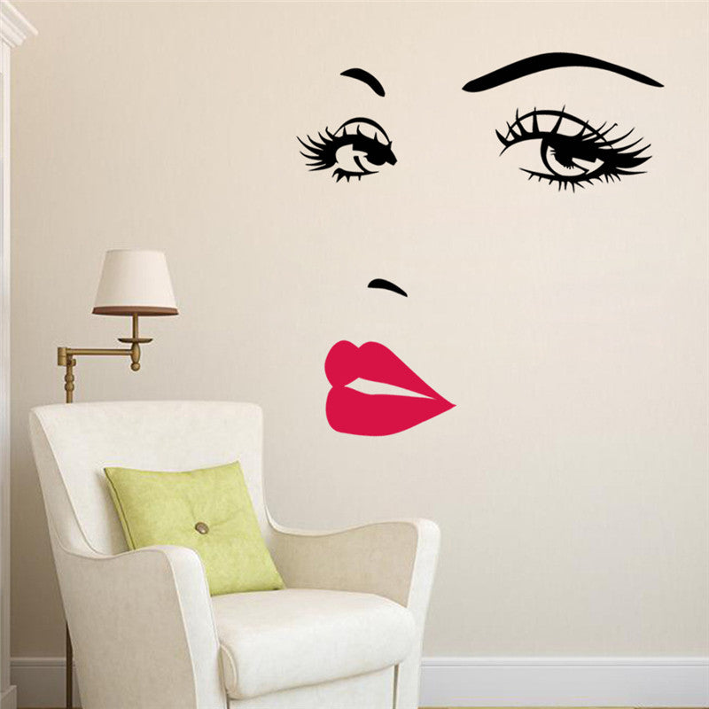sc 1 st  Decorchy & Beauty Salon Wall Art Girls Face Decor Sticker Decoration By Decorchy