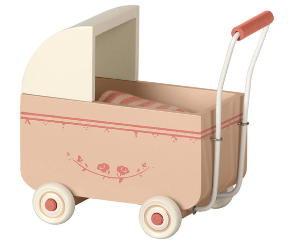 Maileg Pram (My size) in powder pink