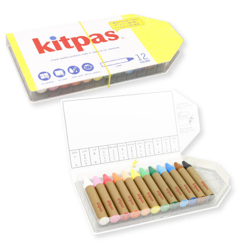 Kitpas Large Art Crayons