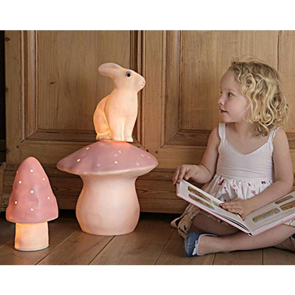 Large Mushroom Lamp in Red
