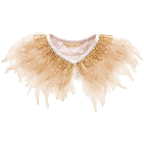 Peach Feather Collar by Meri Meri