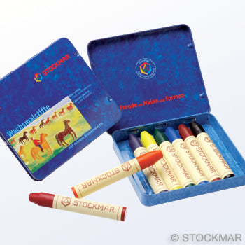 Stockmar Wax Crayons - 8 colours in tin box