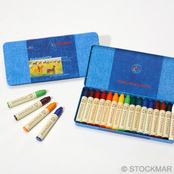 Stockmar Wax Crayons - 16 colours in tin box