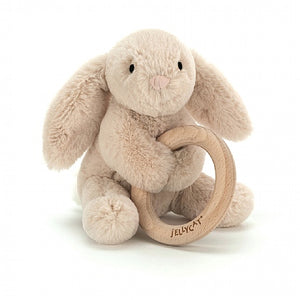 Shooshu Bunny Wooden Ring Toy by Jellycat