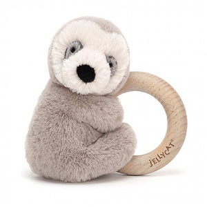 Shooshu Sloth Wooden Ring Toy by Jellycat
