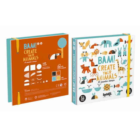 Bam! Animals Stamps Set by Londji