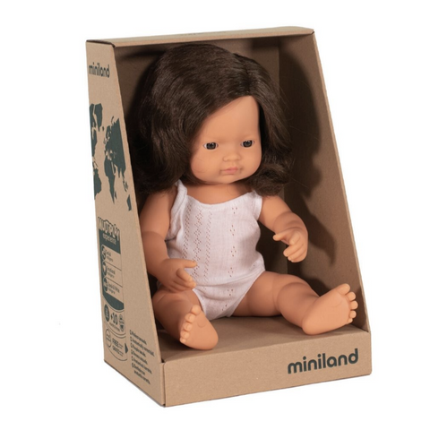 "Miniland 15"" Doll in Box: Brunette (boy and girl)"