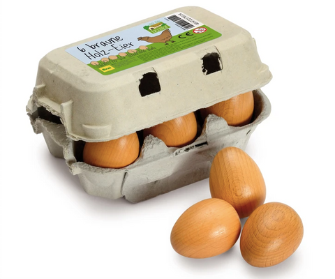 Carton of Eggs (6pcs) by Erzi