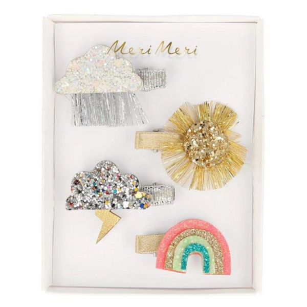Sparkly Weather Hair Clips