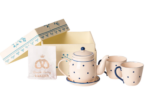 Maileg Tea and Biscuit Set For Two (blue)