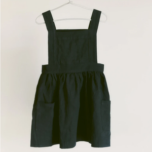 Pinafore Apron in Black
