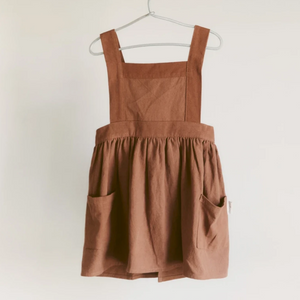 Pinafore Apron in Cinammon