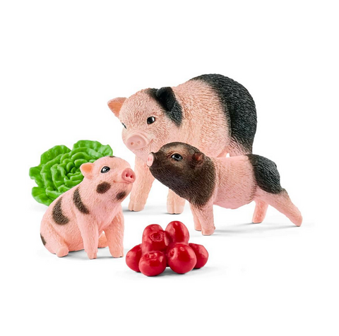 Miniature pig mother and piglets by Schleich