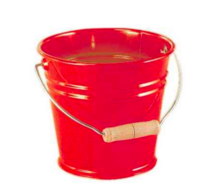 Metal Bucket with beech wood handle