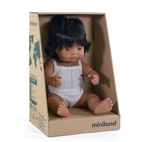 "Miniland 15"" Doll in Box: Latinx (boy and girl)"