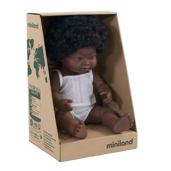 "Miniland 15"" Doll in Box: Down Syndrome (boy and girl)"