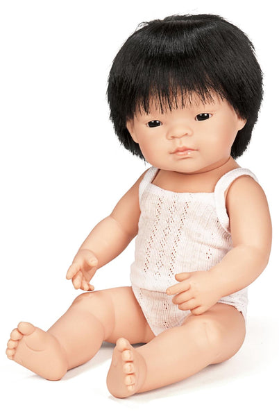 "Miniland 15"" Doll in Box: Asian (boy and girl)"