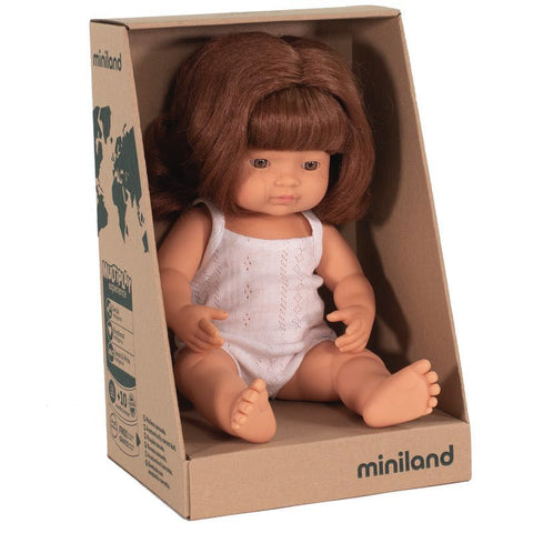 "Miniland 15"" Doll in Box: Redhead (boy and girl)"
