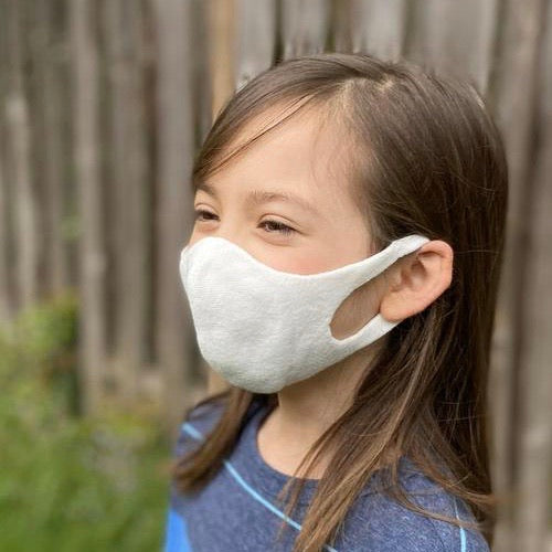 KID SIZE Japanese  Botanical Dyed Organic Cotton Face Mask