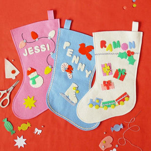 Felt Charm Stocking Kit by Fair Play Projects (materials to make one stocking)