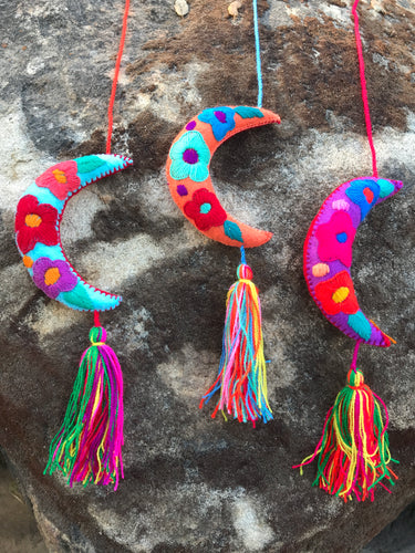 Mexican Handmade Embroidered Holiday Ornaments