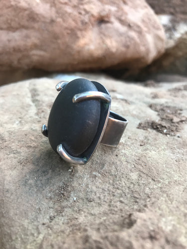 Ventura Beach Stone Ring by Jennifer Grasmere