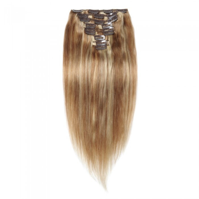 16 Inch 10 Pcs Straight Clip In Human Hair Extension 120 Gram