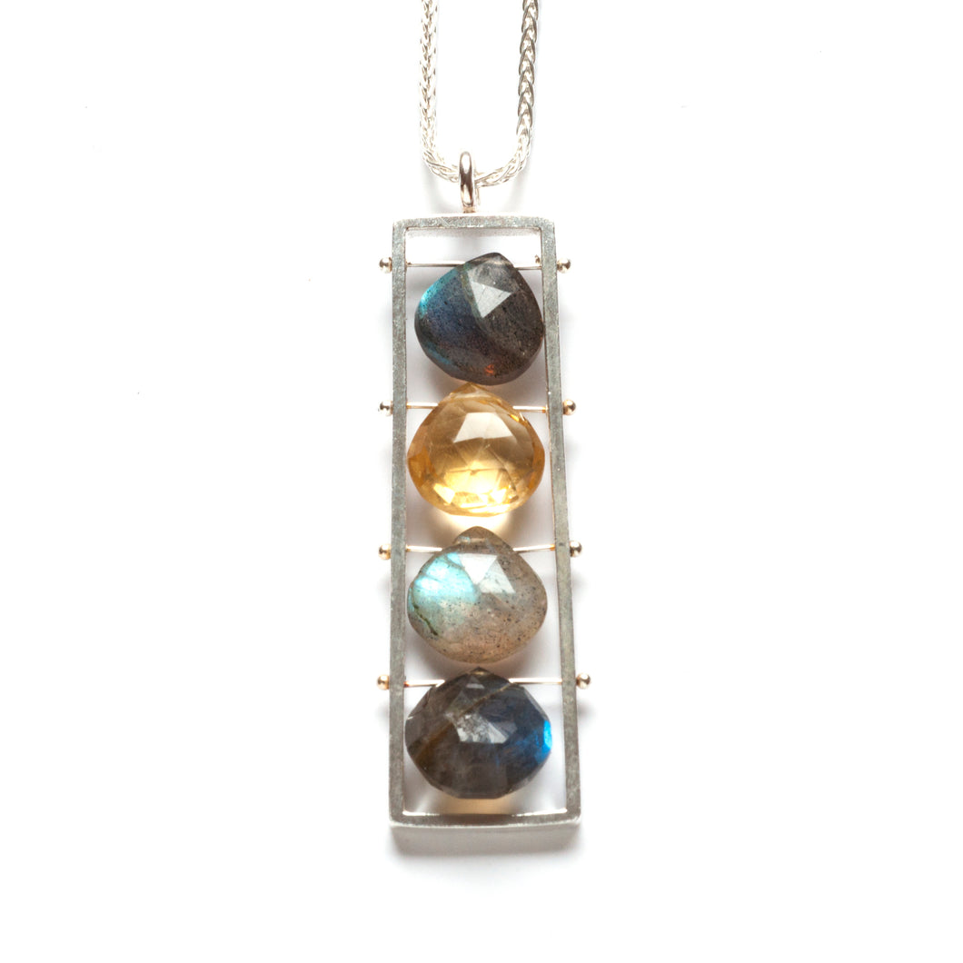 Long Vertical Frame necklace