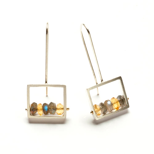Frame Earrings, French wire