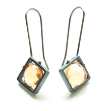 CSJ11LE - Diagonal Frame Earrings
