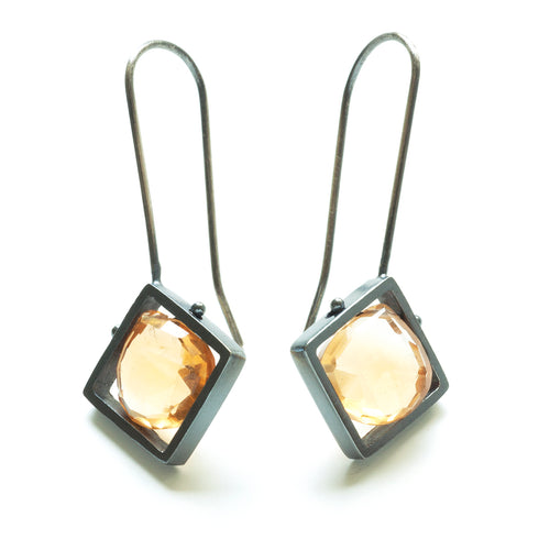 Diagonal Frame Earrings