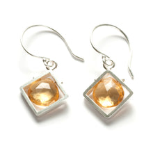 CSJ11SE - Diagonal Frame Earrings, dangle