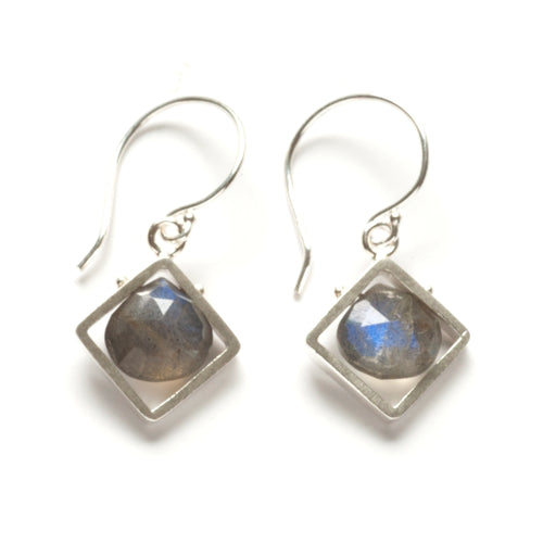 Diagonal Frame Earrings, dangle CSJ11SE