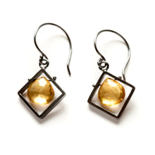 Diagonal Frame Earrings, dangle