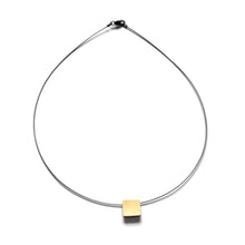 CX02N, Bimetal Square Necklace
