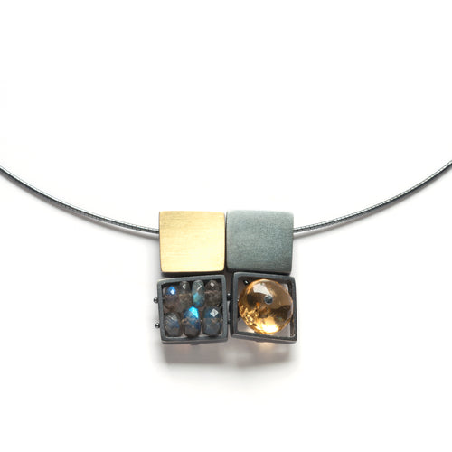 Quad Square Cage Necklace