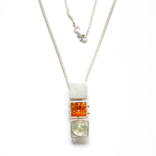 CX13N - Triple Square Cage Necklace