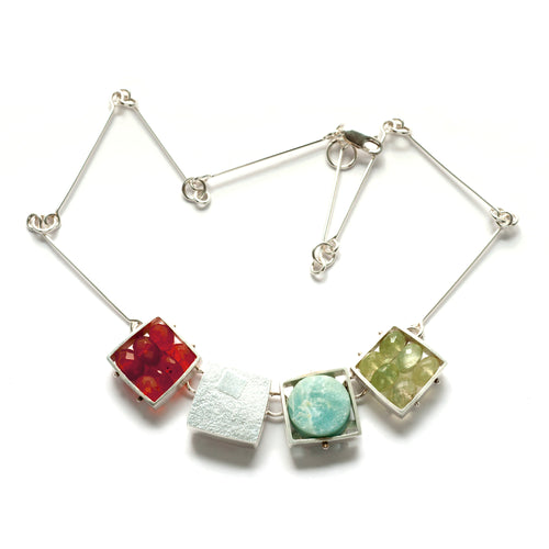 Large Square Cage Necklace