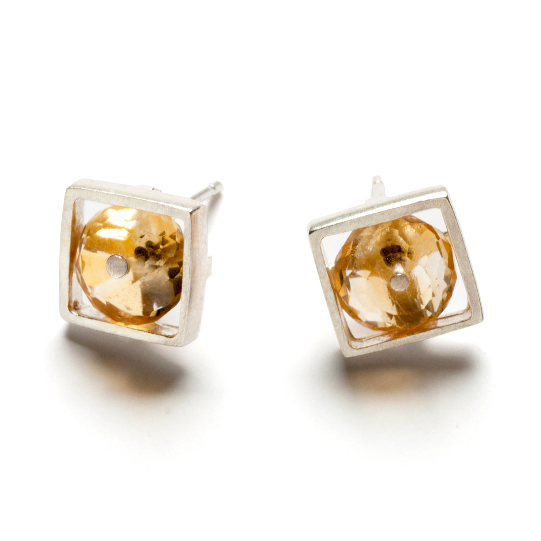 Square Cage Earrings, post