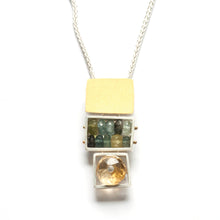 CXT21N - Three Cage Necklace, Medium