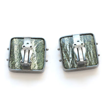 Zebra Serpentine Clip Earrings
