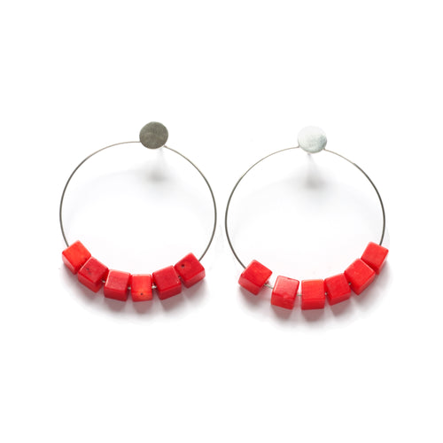 KS03E - Circle Earrings Large, post